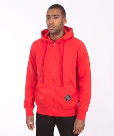 Stoprocent-BMS Hoodtag16 Bluza Zip Red