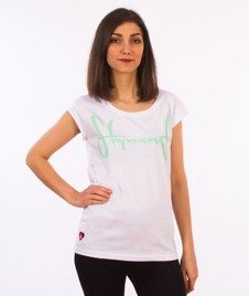 Stoprocent-Tagirl T-Shirt Damski Biały