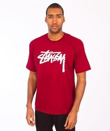 Stussy-Label Stock Tee Dark Red
