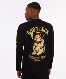 Turbokolor-Lucky Cat Pocket Longsleeve Czarny