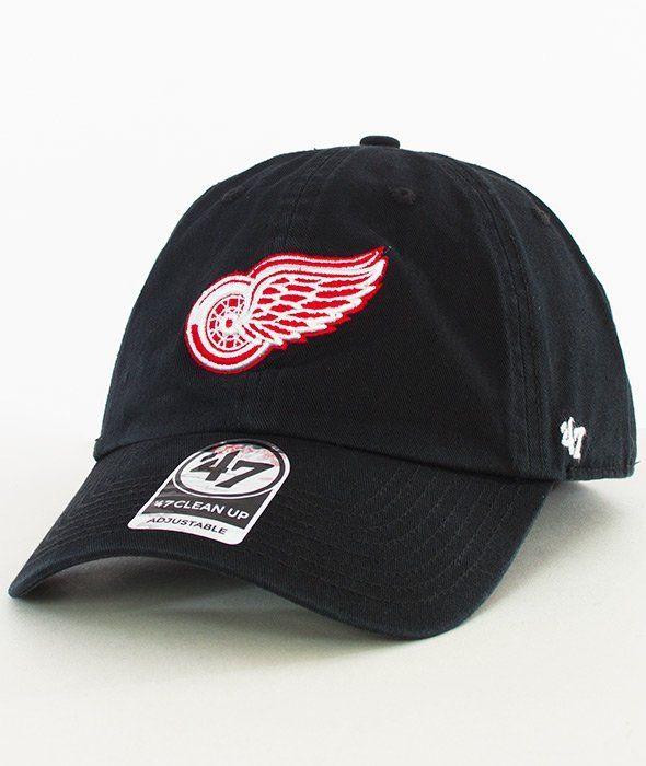 47 Brand-Clean Up Detroit Red Wings Czapka z Daszkiem Czarna