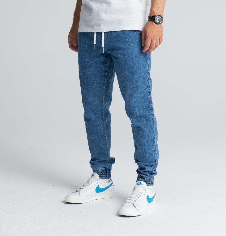 Biuro Ochrony Rapu SKIN Spodnie Jogger Jeans Guma Light