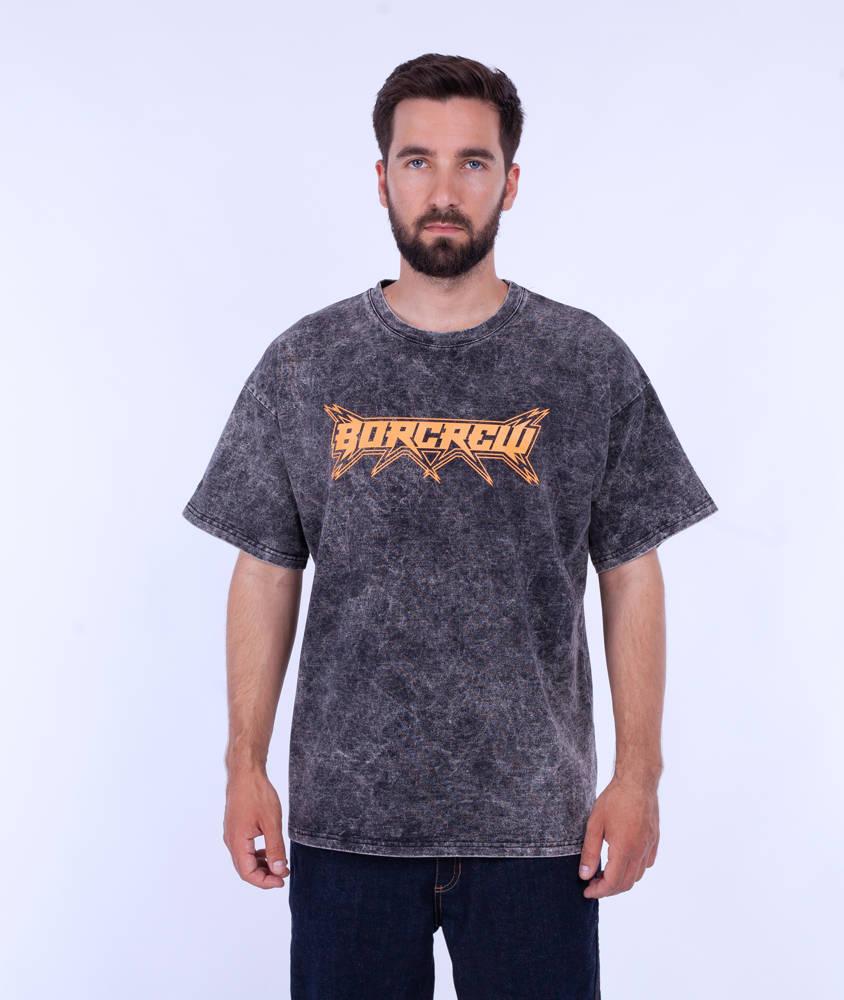 Biuro Ochrony Rapu STAR TIE DYE T-Shirt Oversize Czarny Sprany