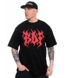 Brain Dead Familia-Flame T-shirt Czarny
