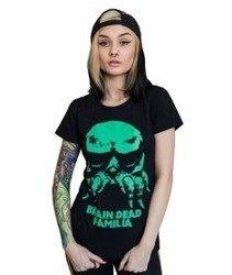 Brain Dead Familia-Maska T-shirt Damski Czarny