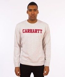 Carhartt-College Sweatshirt Bluza Ash Heather/Chili