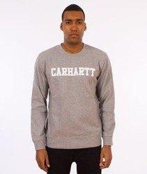 Carhartt-College Sweatshirt Bluza Grey Heather/White