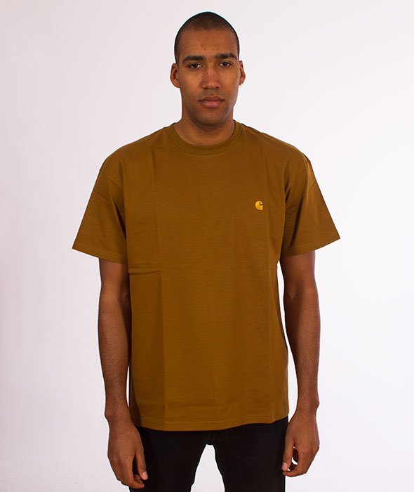 Carhartt WIP-Chase T-Shirt Hamilton Brown/Gold