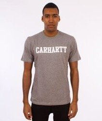 Carhartt WIP-College T-Shirt Grey Heather/White
