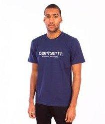 Carhartt-Wip Script T-Shirt Blue/White