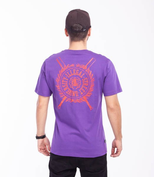 DIIL SHIELD T-Shirt Fioletowy