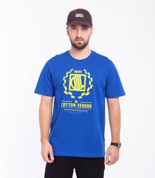 DIIL SHIELD T-Shirt Niebieski