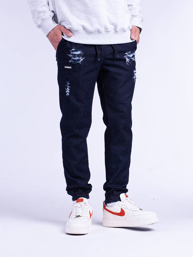 Diamante JOGGER 17 Ripped ciemny blue Jeans