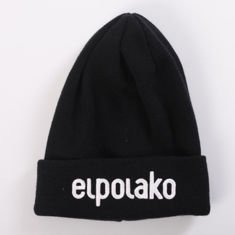 El Polako-BASIC Czapka  zimowa wywijana CZARNY