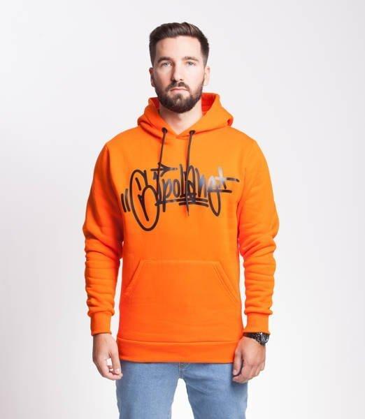 El Polako THROWTAG Bluza z Kapturem Pomarańczowy