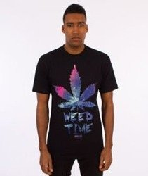 Equalizer-Weed Time T-shirt Czarny