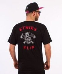 Etnies-Beware Flip T-Shirt Czarny