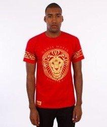 Ganja Mafia-Ka'lion T-Shirt Czerwony/Złoty