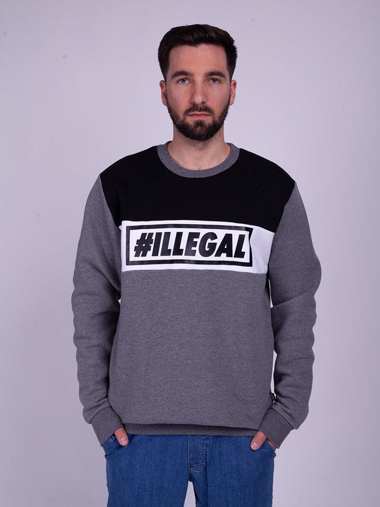 Illegal 3 COLORS Bluza Szary/Czarny