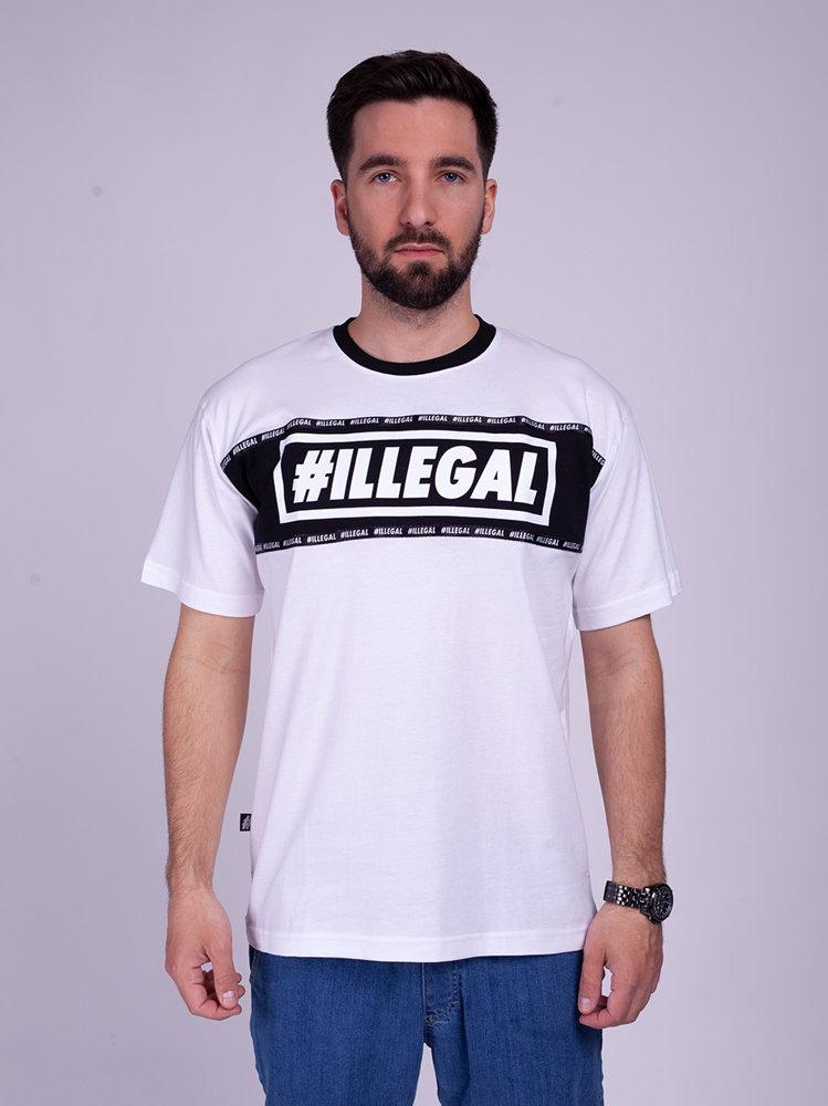 Illegal BELT T-Shirt Biały