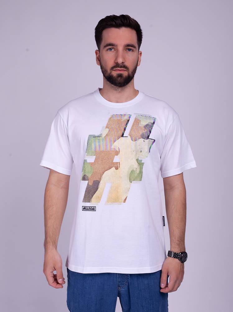Illegal # T-Shirt Biały