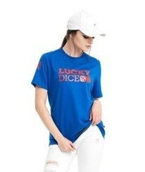 Lucky Dice-LD Seven T-Shirt Damski Niebieski