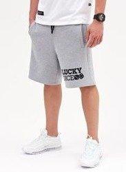Lucky Dice Logo LD Krótkie Spodnie Szary