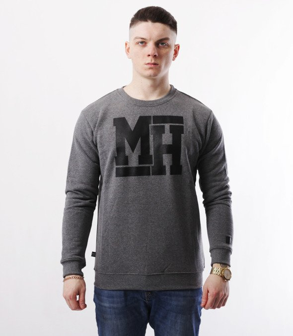 METODA -MH Logo Bluza Ciemno Szara