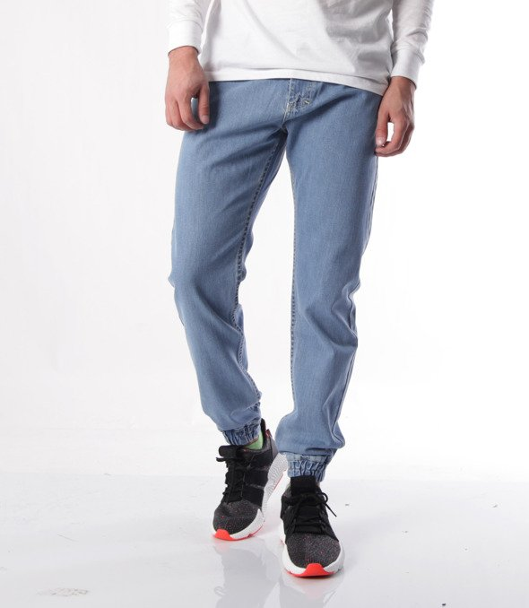 Mass-Base Jogger Jeans Spodnie Light Blue