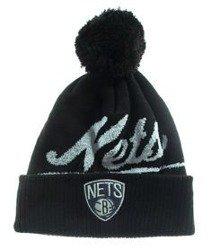 Mitchell & Ness-Brooklyn Nets Greyton Script Pom Beanie KV97Z Czapka Zimowa Czarna