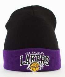 Mitchell & Ness-Los Angeles Lakers Arched Cuff Knit Czapka Zimowa Czarna