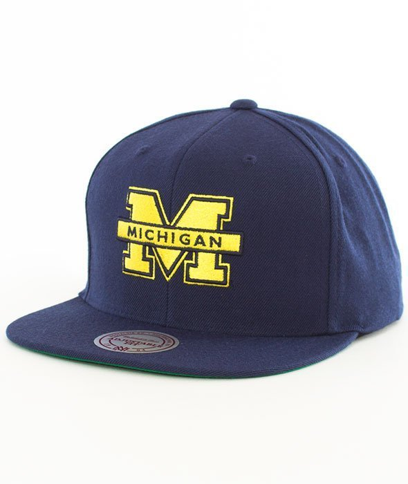Mitchell & Ness-Michigan Wolverines Wool Solid SB INTL225