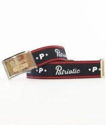 Patriotic-Base Pasek Stalowy/Czarny/Czerwony