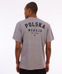 Polska Wersja-PW Godło T-Shirt Szary