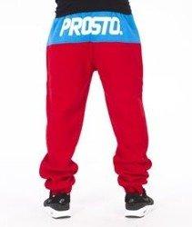 Prosto-Around Spodnie Dresowe Czerwone