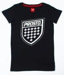 Prosto-Assist T-shirt Damski Czarny