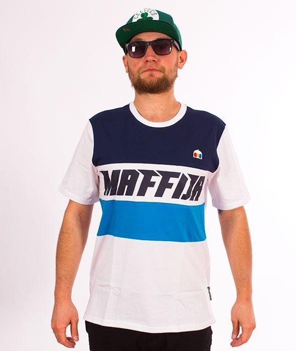 SB Maffija-Lines T-Shirt Niebieski