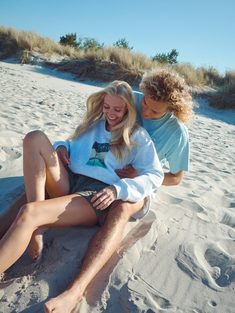 SSG Girls POOL & PLAYA Bluza Klasyczna Oversize Light Grey