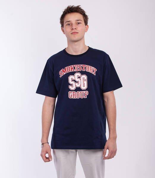 Smoke Story COLLEGE T-Shirt Granatowy