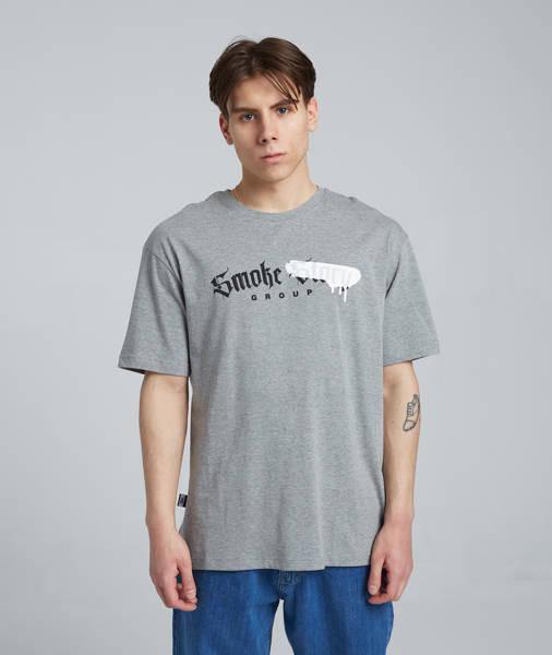 Smoke Story SMOKE ##### T-Shirt Oversize Szary