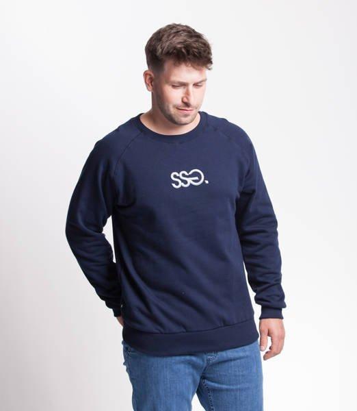 Smoke Story SSG 3D EFFECT Bluza bez kaptura Granatowy