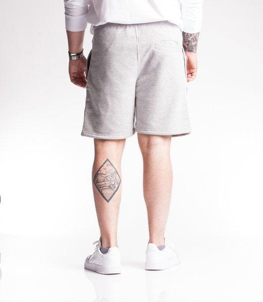 Smoke Story TAPE 3D Krótkie Spodnie Bawełniane jasny Szary