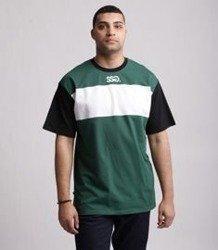 SmokeStory-Color White Belt T-Shirt Czarno Zielony