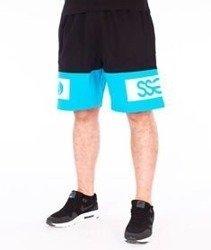SmokeStory-Double SSG Premium Krótkie Spodnie Dresowe Czarne/Niebieskie