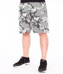 SmokeStory-Flag Moro Lines Premium Krótkie Spodnie Dresowe Szare Moro