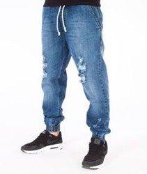 SmokeStory-Jogger Premium Slim Jeans Spodnie Dziury