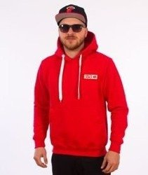 SmokeStory-Logo Colors Bluza z Kapturem Czerwona