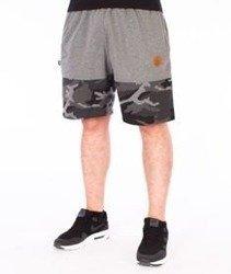 SmokeStory-Moro Wstawki Premium Krótkie Spodnie Dresowe Szare/Czarne/Camo