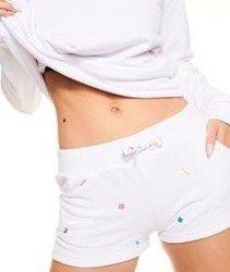 SmokeStory-Pattern Shorts Spodnie Krótkie Damskie Białe