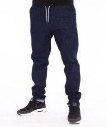 SmokeStory-Straight Fit Guma Spodnie Dark Blue